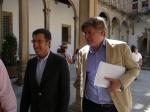 Con Alberto Nuñez Feijoo en Santiago durante la campaña de las europeas de 2009